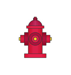 Hydrant flat icon vector