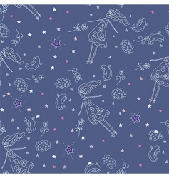 Fairytale seamless pattern vector