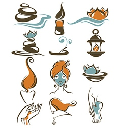 large spa collection vector image