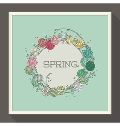 Abstract spring design with pastel colored beads vector