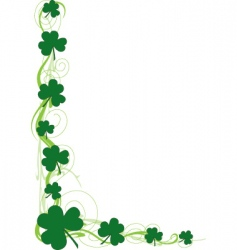 Shamrock border vector