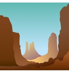 Minimalistic landscape of the canyon vector