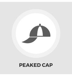 Peaked cap icon flat vector image