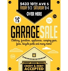 Garage sale poster vector