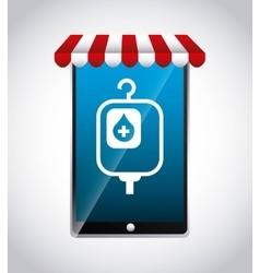 Smartphone icon medical care design vector