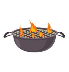barbecue icon cartoon style vector image