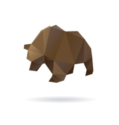 Bear abstract isolated on a white backgrounds vector image