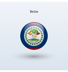 Belize round flag vector
