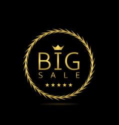 Big sale label vector