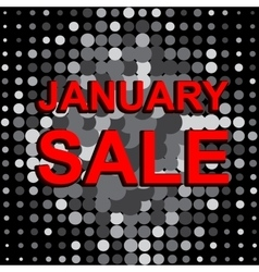 Big sale poster with january sale text vector