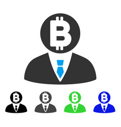 Bitcoin manager flat icon vector