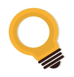 Bulb electricity energy icon graphic vector