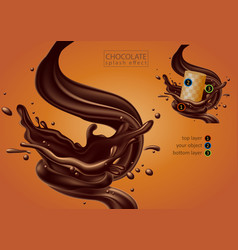 chocolate advertising design high detailed vector image vector image