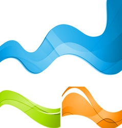 Colorful waves abstract design vector image