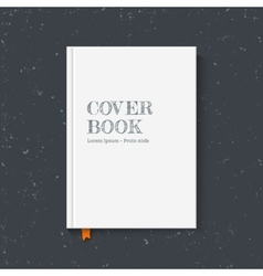 Cover book vector image
