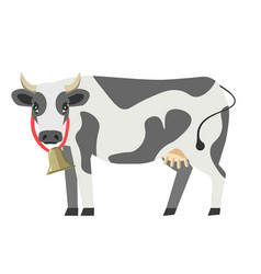 cow flat isolated icon milk dairy product vector image vector image