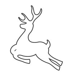 deer reindeer isolated icon vector image