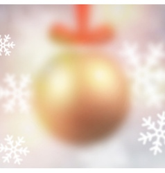 Defocused golden christmas ball vector image vector image