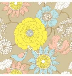 floral garden pattern vector image vector image