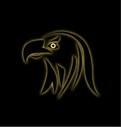 Glowing eagle on black vector