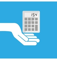 Hand hold icon calculator design flat isolated vector