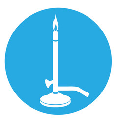 isolated bunsen burner vector image