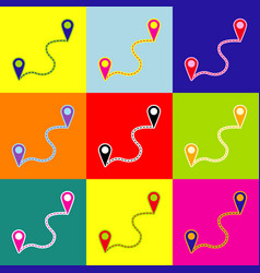 Location pin navigation map gps sign pop vector