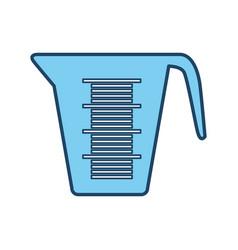 Measuring cup bakeware vector