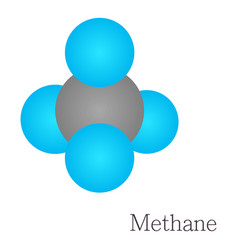 methane 3d molecule chemical science vector image vector image