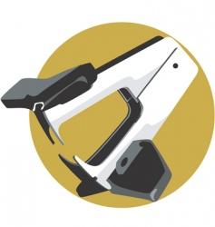 paper stapler vector image vector image