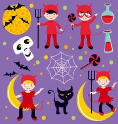 red devil Hallowen vector image vector image