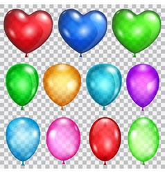 Set of transparent balloons vector