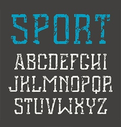 Slab serif font in hand drawn style vector