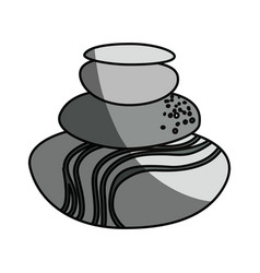 Spa stones cartoon vector