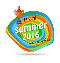 Summer travel brazil background for sport banner vector image vector image