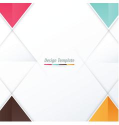 Template triangle design pink blue orange brown vector