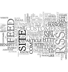 Why every site needs rss text word cloud concept vector