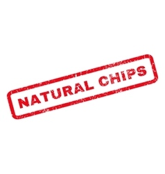 Natural chips rubber stamp vector