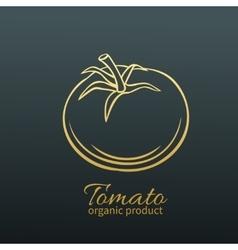 Badge tomato vector