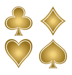 Set of playing card suits vector