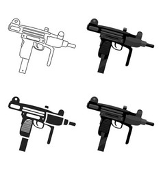 uzi weapon icon cartoon single weapon icon from vector image