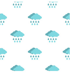cloud with rain pattern seamless vector image