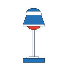 Desk lamp interior energy bulb light vector