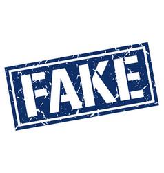 Fake square grunge stamp vector