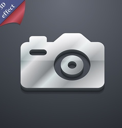 Photo camera icon symbol 3d style trendy modern vector