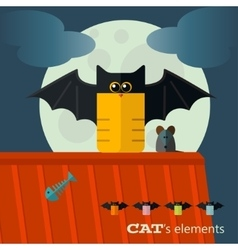 cats elements vector image