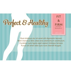 Confident fit and firm womans legs shape banner or vector