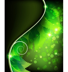 Green sparkling leaves vector