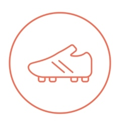 Football boot line icon vector