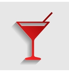 Cocktail sign vector